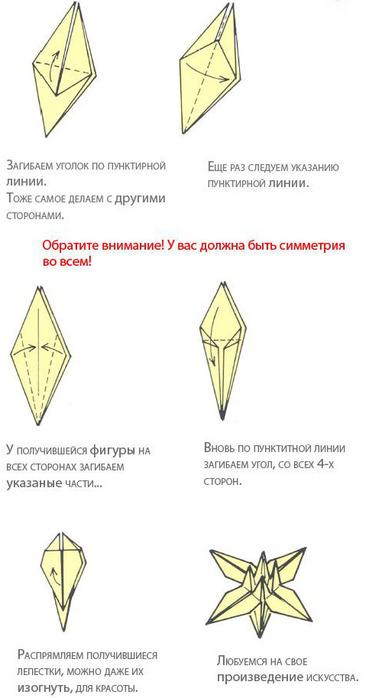 лилия. модули кусудамы лилия