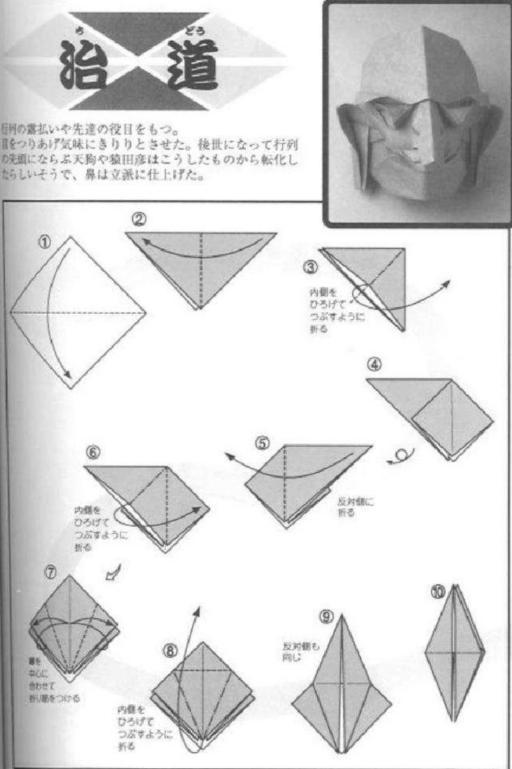 Схема бумажной маски №1